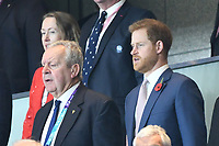 1st November 2019, Yokohama, Japan;  Prince Harry, Duke of Sussex during the 2019 Rugby World Cup Final match between England and South Africa at the International Stadium Yokohama in Yokohama, Kanagawa, Japan on November 2, 2019.