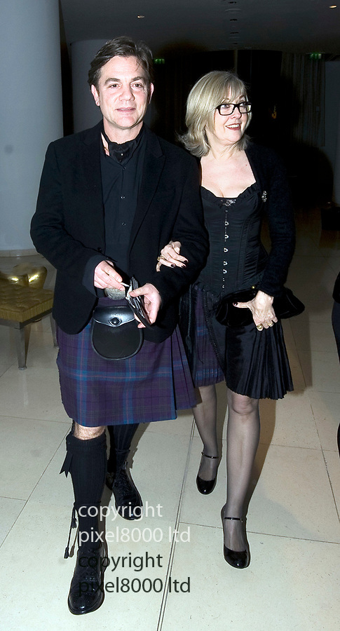 file pic :<br /> <br /> Burns night party at St Martin's Lane Hotel in London<br /> John Michie with his wife Carol<br /> <br /> <br /> <br /> <br /> picture by Gavin Rodgers/ Pixel8000