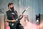 Jim Root of Stone Sour performs during the 2013 Rock On The Range festival at Columbus Crew Stadium in Columbus, Ohio.