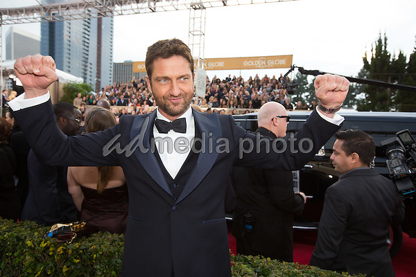 Actor Gerard Butler attends the 73rd Annual Golden Globes Awards at the Beverly Hilton in Beverly Hills, CA on Sunday, January 10, 2016. Photo Credit: HFPA/AdMedia