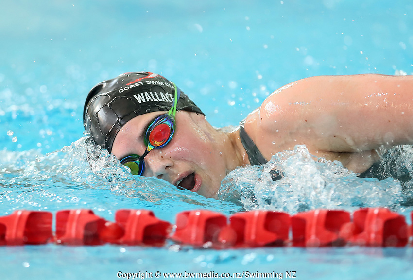 Nia Wallace. New Zealand Short Course Swimming Championships, National Aquatic Centre, Auckland, New Zealand, Tuesday 1st October 2019. Photo: Simon Watts/www.bwmedia.co.nz/SwimmingNZ