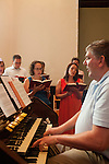 The Sunday service led by Reverend Matthew Nelson at Inman Park United Methodist Church in Atlanta, Georgia August 5, 2012...The choir is led by Director of Music George Arrington.