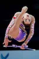 February 27, 2016 - Espoo, Finland - KATSIARYNA HALKINA of Belarus performs at Espoo World Cup 2016.