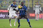 Jose Palomino of Atalanta Marshalls Romelu Lukaku of Inter during the Serie A match at Giuseppe Meazza, Milan. Picture date: 11th January 2020. Picture credit should read: Jonathan Moscrop/Sportimage