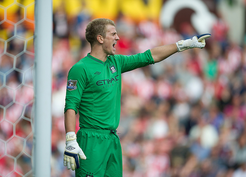 Manchester City's Joe Hart ..Football - Barclays Premiership - Stoke City v Manchester City - Saturday 15th September 2012 - Britannia Stadium - Stoke..