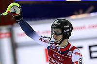 January 8th 2020, Madonna di Campiglio, Italy; FIS Alpine Ski World Cup Men's Night Slalom in Madonna di Campiglio, Italy on January 8, 2020,<br /> Clement Noel (FRA)