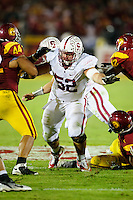 LOS ANGELES, CA - October 29, 2011:  David DeCastro during play against USC at the LA Coliseum in Los Angeles, CA.  Stanford won in triple overtime, 56 -48, and extended its winning streak to 16 games.