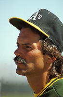 Oakland A's pitcher Dennis Eckersley (1989  photo by Ron Riesterer}