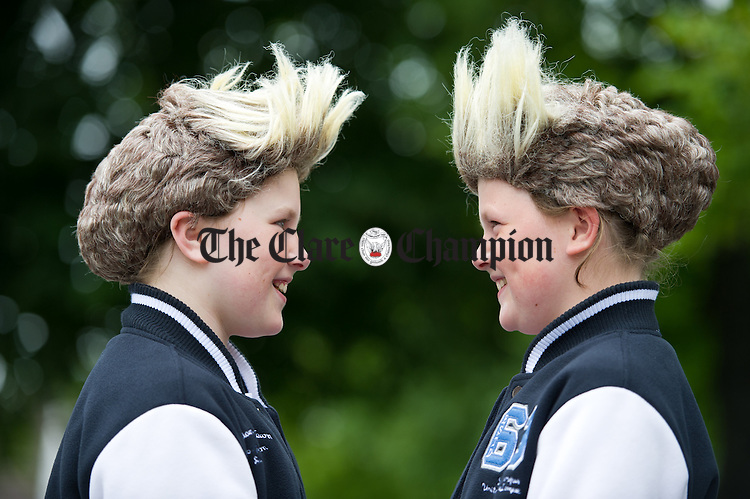 "Sisters as Jedward...""Jenver"" Jennifer and Veronica Hanrahan during the annual Clarecastle Regatta. Photograph by John Kelly."
