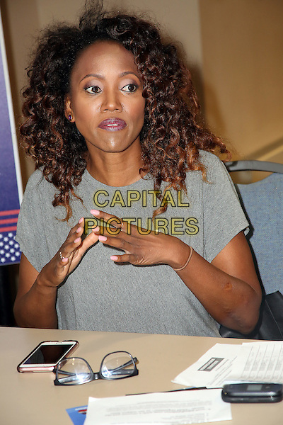 PHILADELPHIA, PA - JULY 26: Erika Alexander pictured at The 2016 Democratic National Convention day 2 at The Philadelphia Convention Center in Philadelphia, Pennsylvania on July 26, 2016. <br /> CAP/MPI09<br /> &copy;MPI09/Capital Pictures