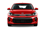 Car photography straight front view of a 2018 KIA Rio EX 5 Door Hatchback