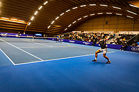 Alphen aan den Rijn, Netherlands, December 22, 2019, TV Nieuwe Sloot,  NK Tennis, Men's single final: Botic van de Zandschulp (NED) vs Tim van Rijthoven (NED) (R) warming up<br /> Photo: www.tennisimages.com/Henk Koster