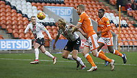 Charlton Athletic's George Lapslie and Blackpool's Chris Taylor<br /> <br /> Photographer Stephen White/CameraSport<br /> <br /> The EFL Sky Bet League One - Blackpool v Charlton Athletic - Saturday 8th December 2018 - Bloomfield Road - Blackpool<br /> <br /> World Copyright &copy; 2018 CameraSport. All rights reserved. 43 Linden Ave. Countesthorpe. Leicester. England. LE8 5PG - Tel: +44 (0) 116 277 4147 - admin@camerasport.com - www.camerasport.com