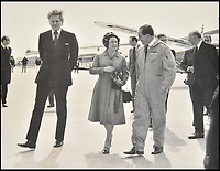 BNPS.co.uk (01202 558833)<br /> Pic DominicWinter/BNPS<br /> <br /> Trubshaw with Princess Margaret and Michael Heseltine (transport secretary at the time). <br /> <br /> The space age helmet worn by Concorde test pilot Brian Trubshaw on the first ever UK flight has been reunited with the historic Concorde 002 at the Fleet Air Arm Museum in Somerset.<br /> <br /> The 50th anniversary of the flight on 9th April 1969 takes place tomorrow (Tuesday) when the Concorde prototype took off from Filton near Bristol with Trubshaw at the controls.<br /> <br /> The historic helmet was fitted with an oxygen supply in case of an depressurisation of the supersonic aircraft during testing and has been loaned to the museum by a collector.