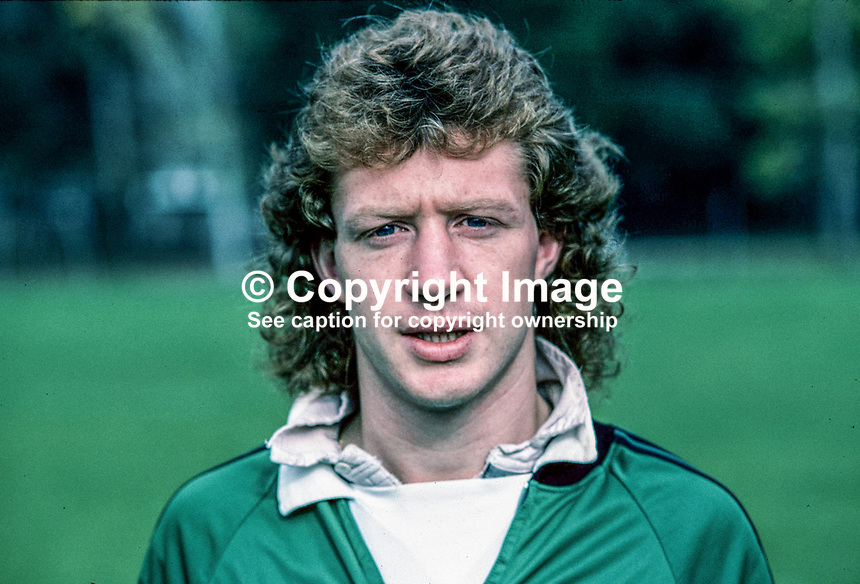 Jimmy Nicholl, footballer, Manchester United and N Ireland, 198011000373a.<br />