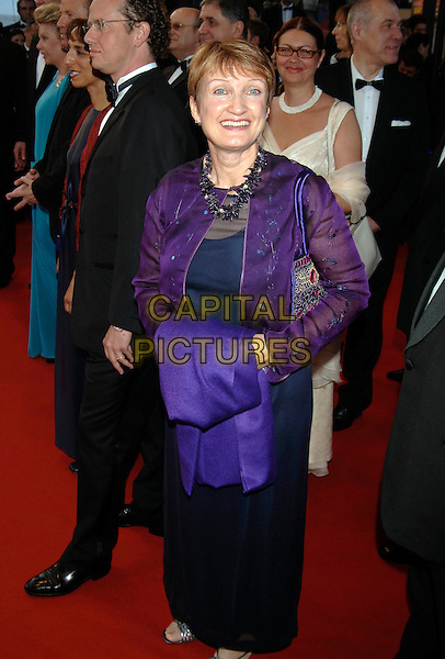 "RT HON TESSA JOWELL.Secretary of State for Culture, Media .and Sport .""Joyeux Noel"" screening arrivals.58th International Cannes Film Festival, France.May 16th, 2005.Ref: PL.full length black skirt purple jacket.www.capitalpictures.com.sales@capitalpictures.com.©Capital Pictures."
