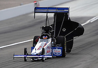 Nov. 1, 2008; Las Vegas, NV, USA: NHRA top fuel dragster driver J.R. Todd during qualifying for the Las Vegas Nationals at The Strip in Las Vegas. Mandatory Credit: Mark J. Rebilas-