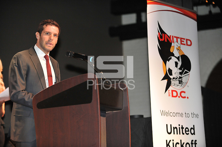 Ben Olsen Head Coach of D.C. United during the 11th Annual Kickoff luncheon, at The Hamilton Live DC in Washington DC , Tuesday March 5, 2013.