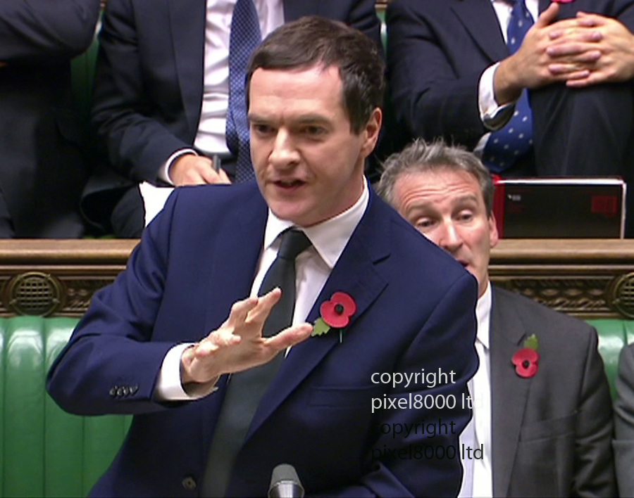 Pic shows: George Osborne speaks in the commons today after his defeat last night<br /> Baroness Meacher won in the House of Lords against tax credits<br />  Molly Meacher, Baroness Meacher<br /> <br /> <br /> Pic supplied by Pixel 8000 Ltd
