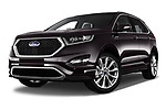 Stock pictures of low aggressive front three quarter view of a 2017 Ford Edge Vignale base 5 Door SUV