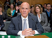 """Richard F. Smith, former Chairman and Chief Executive Officer, Equifax, Inc. prior to giving testimony before the United States Senate Committee on Banking, Housing, and Urban Affairs as they conduct a hearing entitled, """"An Examination of the Equifax Cybersecurity Breach"""" on Capitol Hill in Washington, DC on Tuesday, October 3, 2017. <br /> Credit: Ron Sachs / CNP"""