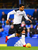 Tom Huddlestone of Derby during the Sky Bet Championship match between Birmingham City and Derby County at St Andrews, Birmingham, England on 13 January 2018. Photo by Bradley Collyer / PRiME Media Images.