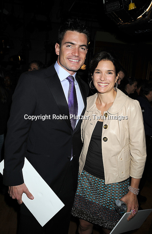 """Aiden Turner and Laura Koffman..at he taping of the 10,000th episode of """"All My Children"""" on October 16, 2008 at their studio. ....Robni Platzer, Twin Images"""
