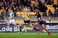 Hurricanes' Jordie Barrett in action during the Super Rugby - Hurricanes v Chiefs at Westpac Stadium, Wellington, New Zealand on Friday 13 April 2018.<br /> Photo by Masanori Udagawa. <br /> www.photowellington.photoshelter.com