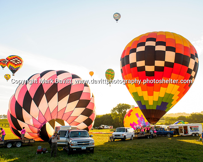 A near record crowd hot air balloon fans filled the hillsides at the National Balloon Classic launch field July 29 for opening ceremonies, balloon launches and music.