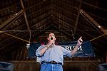 Republican presidential hopeful Rick Santorum campaigns on Saturday, August 6, 2011 in Roland, IA.