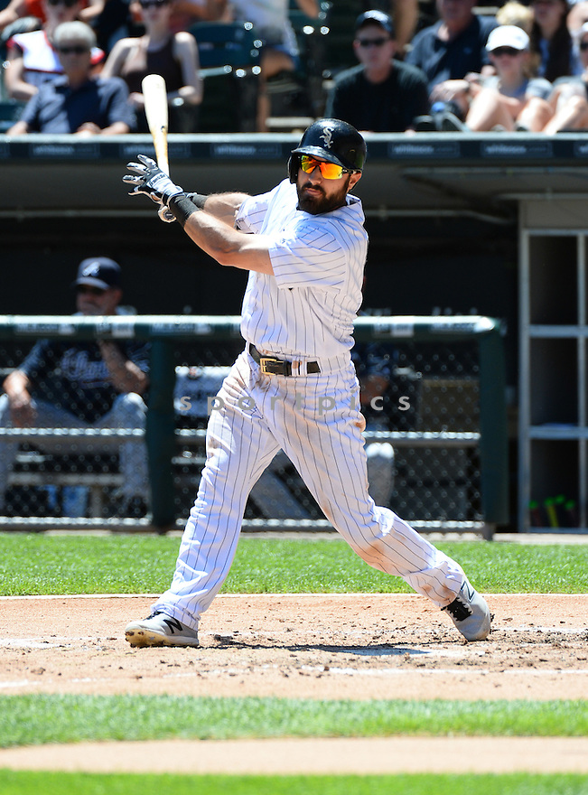 Chicago White Sox Adam Eaton (1) during a game against the Atlanta Braves on July 9, 2016 at US Cellular Field in Chicago, IL. The White Sox beat the Braves 5-4.