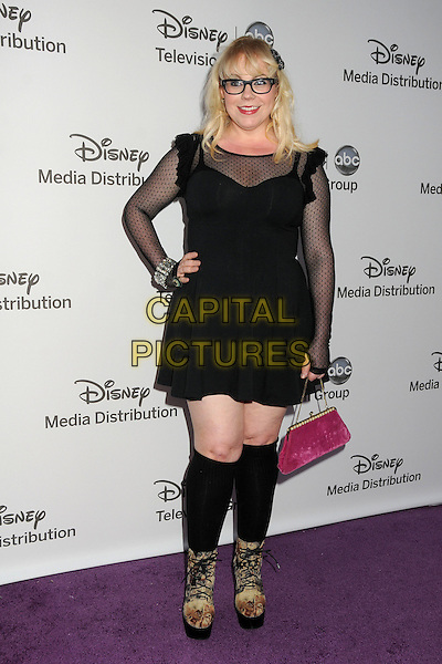 Kirsten Vangsness.Disney Media Networks International Upfronts held at Walt Disney Studios, Burbank, California, USA..May 20th, 2012.full length black dress socks glasses sheer hand on hip.CAP/ADM/BP.©Byron Purvis/AdMedia/Capital Pictures.