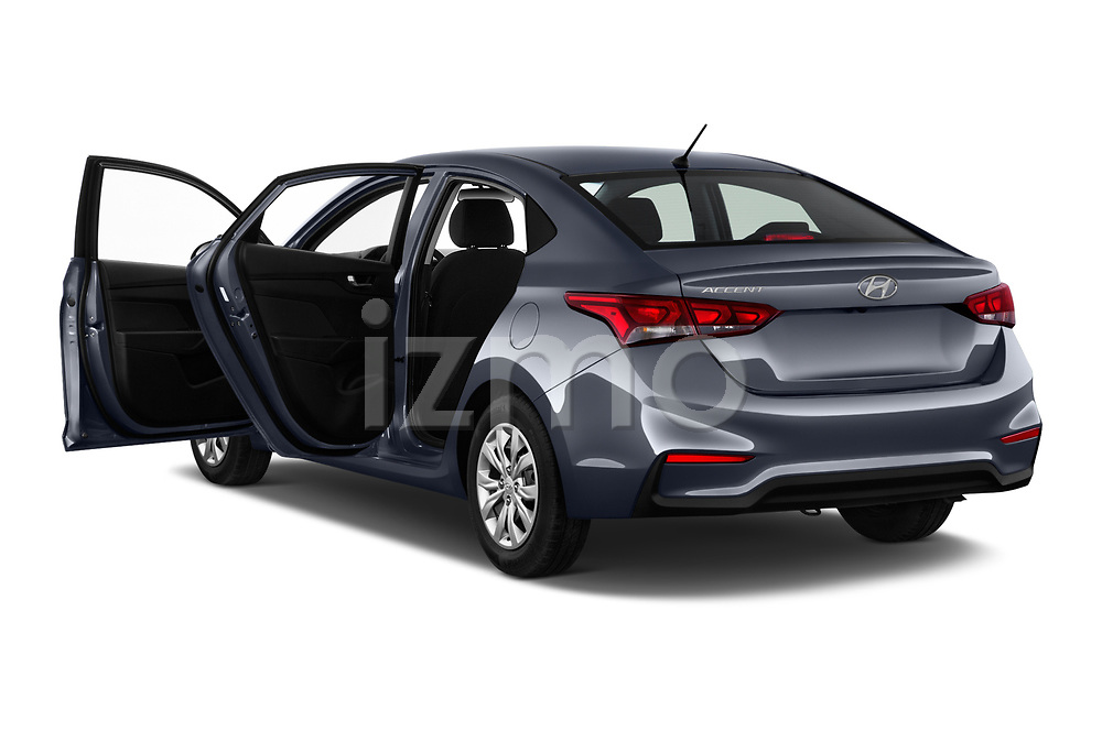 Car images close up view of a 2018 Hyundai Accent SE 4 Door Sedan doors