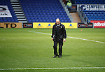 Ross County v St Johnstone...05.12.15  SPFL  Dingwall<br /> The groundsman checks on the pitch before kick off<br /> Picture by Graeme Hart.<br /> Copyright Perthshire Picture Agency<br /> Tel: 01738 623350  Mobile: 07990 594431