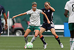 18 July 2009: Saint Louis' Angie Woznuk (11) and Washington's Rebecca Moros (19). The Washington Freedom defeated Saint Louis Athletica 1-0 at the RFK Stadium in Washington, DC in a regular season Women's Professional Soccer game.
