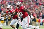 Wisconsin Badgers linebacker Leon Jacobs (32) during an NCAA College Big Ten Conference football game against the Iowa Hawkeyes Saturday, November 11, 2017, in Madison, Wis. The Badgers won 38-14. (Photo by David Stluka)