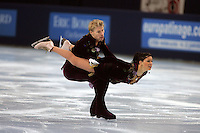 November 19, 2005; Paris, France; Figure skating stars ISABELLE DELOBEL and OLIVIER SCHOENFELDER of France skate to silver in ice dancing at Trophee Eric Bompard, ISU Paris Grand Prix competition.  They are one of the favorites in ice dancing for medals leading up to Torino 2006 Olympics.<br />Mandatory Credit: Tom Theobald/ <br />Copyright 2005 Tom Theobald