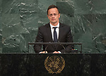 72 General Debate – 22 September <br /> <br /> <br /> <br /> Hungarian Minister for Foreign Affairs, Péter Szijjártó