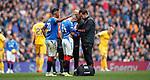 14.09.2019 Rangers v Livingston: Ryan Kent injury