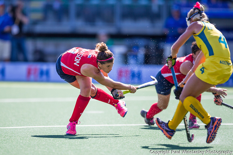 USA Women vs Australia Women at the Rabobank Hockey World Cup 2014
