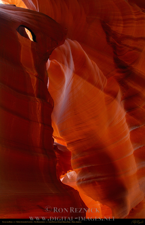 Eye of the Bear, Upper Antelope Canyon, Tse-Bighanilini, Slot Canyon, Lake Powell Navajo Tribal Park, Page, Arizona