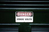 Danger 12,000 volts sign