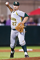 Kolt Browder (27) April 27th, 2010; NCAA Baseball action, Baylor University Bears vs TCU Horned Frogs at Lupton Stadium in Fort Worth, Tx;  TCU won 5-4 in extra innings.