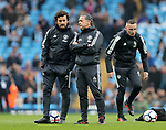 Manchester United coach Rui Faria and Ricardo Formosinho during the premier league match at the Etihad Stadium, Manchester. Picture date 7th April 2018. Picture credit should read: Simon Bellis/Sportimage