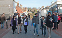 English as a Foreign Language students, Further Education College, Lewis, Sussex.