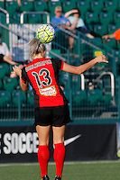 Rochester, NY - Saturday June 11, 2016: Western New York Flash midfielder Abigail Dahlkemper (13) during a regular season National Women's Soccer League (NWSL) match between the Western New York Flash and the Orlando Pride at Rochester Rhinos Stadium.