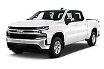 2019 Chevrolet Silverado-1500 LT 4 Door Pick-up Angular Front automotive stock photos of front three quarter view