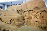 Visitors enjoy the sand museum near Tottori city, Tottori Prefecture, Japan in June 2012. PHOTO: ROB GILHOOLY