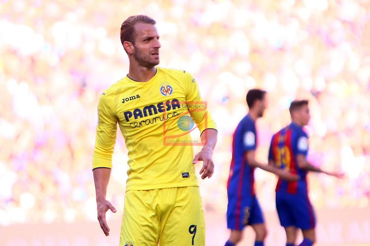 League Santander 2016/2017. Game: 36.<br /> FC Barcelona vs Villarreal CF: 4-1.<br /> Soldado.