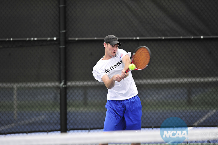 25 APR 2013: The 2013 Mountain West Conference Men's Tennis Championship held at the Air Force Academy in Colorado Springs, CO. Stephen Nowland/NCAA Photos